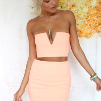 Peach V Set | SABO SKIRT