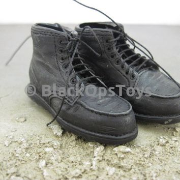 Mens Hommes Vol. 9 Construction Black Safety Redwing Boots with Laces