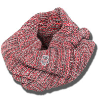 The Game Multi Color Infinity Scarf (Red/Black/White)