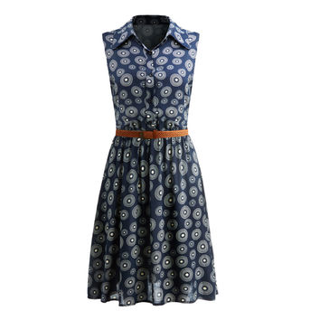 Women Retro Vintage summer dress  Floral Print Dot Robe Femme Rockabilly Plus Size Pinup Swing Party Dress