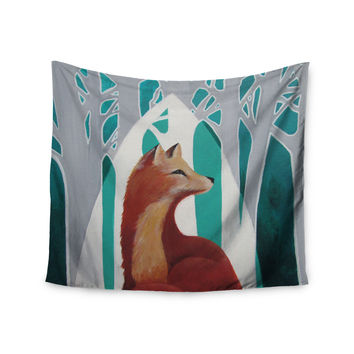 "Lydia Martin ""Fox Forest"" Wall Tapestry"