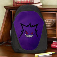 Gengar Ghost/Poison type Pokémon Nightmare Teen Kids Canvas School Backpack Bag