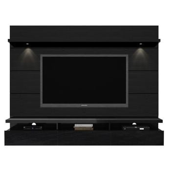 Cabrini 2.2 Floating Wall Theater Entertainment Center in Black