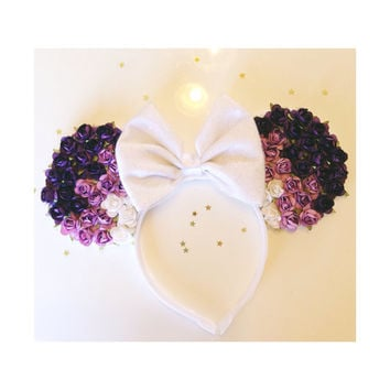 Purple Ombre Rose Minnie Mouse Ears