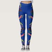 Leggings with flag of North Dakota State, USA