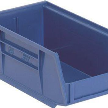 Quantum Storage Systems Stack And Hang Bin, 7-3-8 In. X 4-1-8 In. X 3 In., Blue