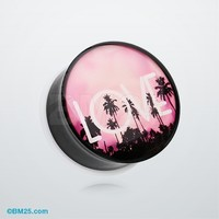 California LOVE Single Flared Ear Gauge Plug