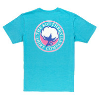 Signature Logo Tee in Heather Button Blue by The Southern Shirt Co.