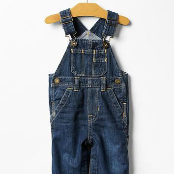 Gap Baby 1969 Lined Denim Overalls