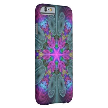 Mandala From Center Colorful Fractal Art With Pink Barely There iPhone 6 Case