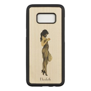 Beautiful Vintage Retro Girl With An Apple Carved Samsung Galaxy S8 Case