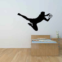 Soccer Player Goalie Vinyl Wall Decal Sticker Graphic