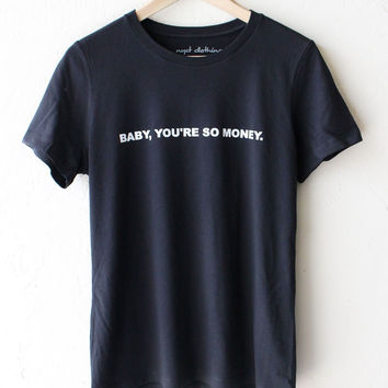 Baby You're So Money Relaxed Tee - Vintage Black