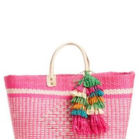 Mar y Sol 'Ibiza' Woven Tote with Tassel Charms | Nordstrom