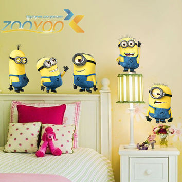 Despicable me 2 minions wall stickers for kids rooms