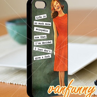 Vintage poster woman dont care - iPhone 4/4s/5 Case - Samsung Galaxy S3/S4 Case - Blackberry Z10 Case - Black or White