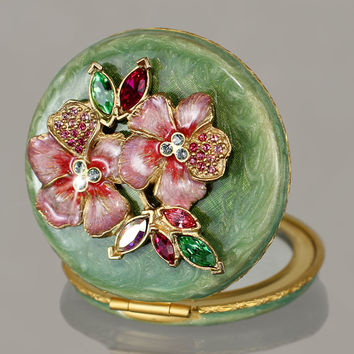 Floral Cluster Compact - Jay Strongwater