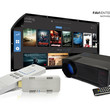 "FAVI Garage Cave Bundle with HD Projector, 100"" HD Indoor/Outdoor Screen and SmartStick (B-LED4T-PWMHD100-SSV48GB)"