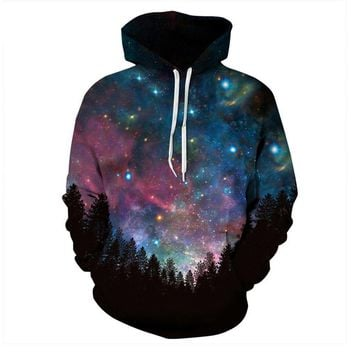 Cosmic Dust Celestial Star Sky Space Galaxy All Over Print Hoodie Sweater