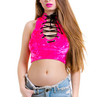 PRE-ORDER: Hot Pink Juliette Top