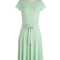 Pastel Long Cap Sleeves A-line Octagon with the Wind Dress