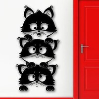 Wall Sticker Vinyl Decal Cute Kitten Cat Animal Pets Kids Room Baby Unique Gift (ig2051)