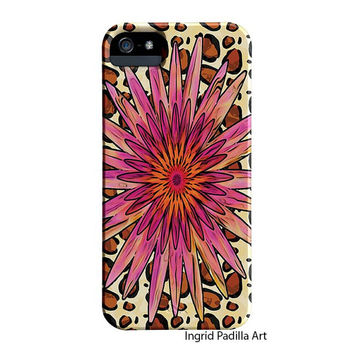 Floral Chic,  iPhone 5 Case, Funky, Art, iPhone5 cases, by Ingrid, iPhone 5S case