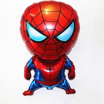 DCCKL3Z 1pc 80*47cm Spiderman Balloon Classic Toys Christmas Birthday Wedding Decoration Party inflatable air balloons free shipping WYQ
