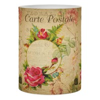 French Postcard Wrapped LED Candle