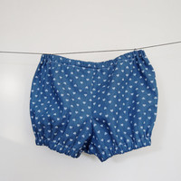 Baby Kids Bubble Shorts, Toddler Bloomers, Baby Denim Shorts