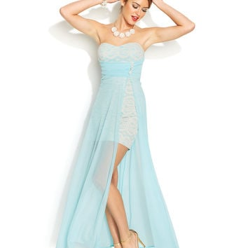 Teeze Me Juniors Lace Illusion Dress From Macys Prom