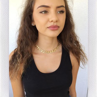 FREESTYLE CHAIN CHOKER - GOLD