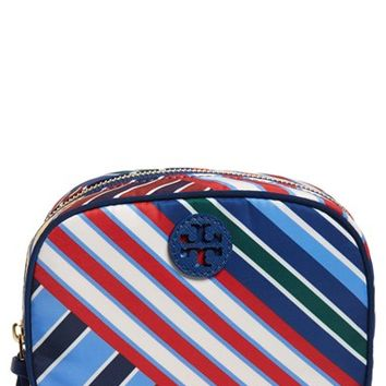Tory Burch 'Ella' Stripe Cosmetics Case | Nordstrom
