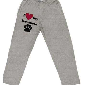 I Heart My Havanese Adult Loose Fit Lounge Pants by TooLoud