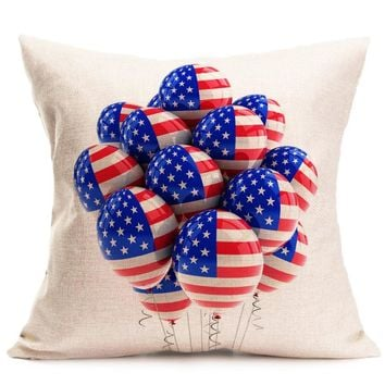 Vintage American Flag Pillow Cases decorative throw pillows lovely pillowcase for the pillow 45*45 pillow case