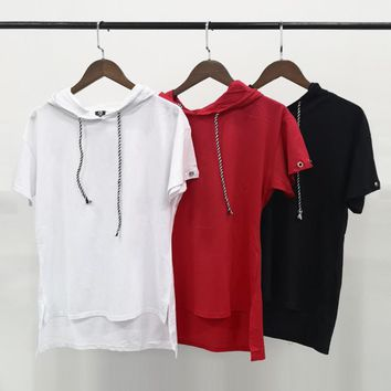 short sleeve with hat loose solid color t-shirts