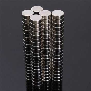 100pcs Neodymium  8mm X 3mm Disc Mini Rare Earth N50 Strong Magnets Craft Models  Circular magnet Permanent magnet