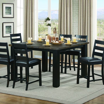 HYATTSVILLE COLLECTION COUNTER HEIGHT 5 PC DINING TABLE SET WITH BUTTERFLY LEAF