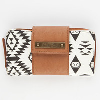 Rock Rebel Southwest Print Wallet White/Black One Size For Women 23831016801
