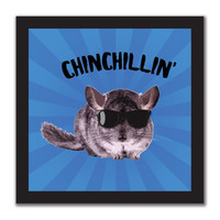 Chinchillin Chinchilla 4x4in. Square Decal Sticker