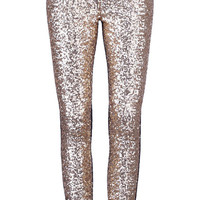 ROMWE | Golden Sequined Black Leggings(Arrival on Apr.18th), The Latest Street Fashion