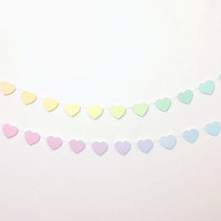 HEART GARLANDS in rainbow, mint & rose, or custom gradients // banner, bunting, wall hangings