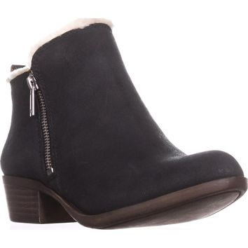 Lucky Brand Basel4 Ankle Booties, Black, 6 US