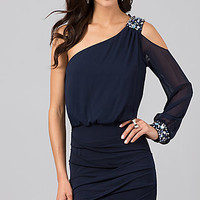 One Shoulder Cocktail Dress by City Triangles