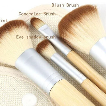 Professional 4 New Makeup Brush Set Cosmetic Foundation blending pencil brushes Gift