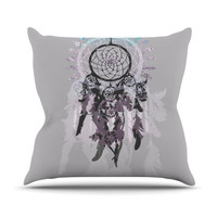 "Belinda Gilles ""Daydream Dreamer"" Gray Purple Throw Pillow"