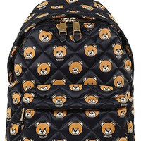 Women's Moschino Bear Print Quilted Backpack