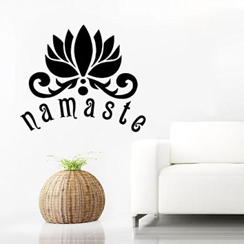 Wall Decal Vinyl Sticker Decals Home Decor Buddha Namaste Yoga Om Mandala Eye Indian Ganesh Lotus Flower Floral Pattern Tattoo Bedroom (6152)