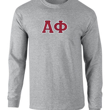 Alpha Phi Twill Letter Long Sleeve Tee
