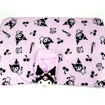 Kuromi Blanket And Case: Plush Friend